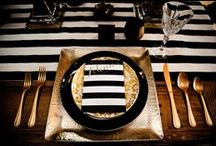 Gold with Black and White Stripes