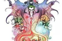 Cool DC art / For all the Batman, Joker and Harlequin fanatics out there.
