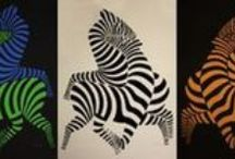 Victor Vasarely - Zebras and tigers