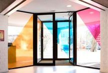Window Film - Colored + Patterned / Beautiful color blocked, gradient and patterned window films to inspire and intrigue!