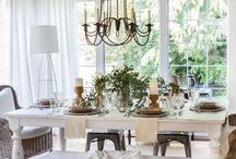 Dining Room / Simple dining decor - makes you want to gather around the table.