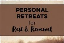 Personal Retreats / With how busy we all are self-care often takes a back seat. Personal retreats are an important part of our self-care routines. It doesn't matter if you have a full weekend or only 10 minutes a day, you can take a personal retreat.