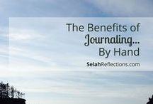 The Benefits of Journaling / Prayer Journals, Personal Journals, Gratitude Journals, Journaling - no matter how or why you journal there are amazing benefits in journaling your thoughts, ideas, wishes and dreams.