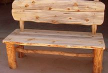 I Love Log Benches and Benches... / by Rachael Powell Dahlgren