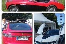 Biler på vores livsstilsmesser / Dette er et lille udsnit af de biler der er at finde på vores livsstilsmesser på de danske slotte