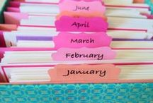 Greeting card organisers / #SherbetBox brings you a monthly stash of greeting cards, so how do you store yours? It's so useful to have a card ready to just grab for the right occasion but love the way some of these organisers let you plan the year - oh wish I was this organised!