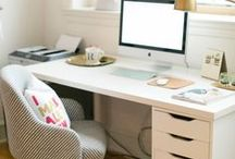 The Perfect Home Office / Check out all these beautiful home offices! In a space that reflects your personality, getting your work done will never feel the same!