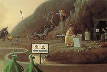 Michael Sowa, Rudi Hurzlmeier, Rene Magritte ~  /