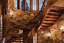 Rustic Stairs and Railing