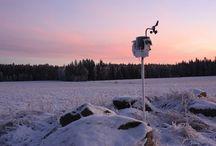 Sääasemat / Laitteet säätilan ja ympäristön automaattiseen seurantaan ja tallentamiseen.