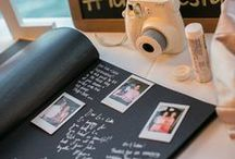 Alternative Wedding Guestbooks / Looking for something different to keep as a reminder of your guests presence at your wedding? Check out these alternative ideas.