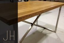 Heros Industrial Design Table / One design can be turned into three different preference designs.  Recycled timber or reclaimed timber is timber that is has been repurposed. There are countless abandoned or demolished buildings, unused rail yards, run-down wharves and bridges and derelict factories that are overflowing with timber that is still perfectly usable.