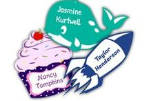 Name Bubbles Labels / Personalized, waterproof Name Labels for Everyday Life.   / by Name Bubbles