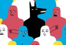 GRAPHISME  & COULEUR / La couleur est devenue incontournable dans le champ de la communication visuelle. Elle confère du dynamisme aux créations graphiques, attire l'attention des lecteurs et suscite une réaction émotionnelle.   Pour le designer graphique, la couleur peut s'employer pour organiser les différents éléments sur la page, conduire l'œil d'un élément à l'autre ou créer une hiérarchie de l'information.  / by Christophe Coussy