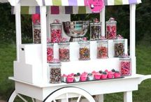 Candy Bars, Table and party decoration
