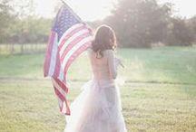 4th of July Wedding / 4th of July Wedding Theme Ideas & Decor. Patriotic Wedding Ideas.