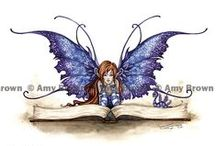 Art by Amy Brown / Art by artist Amy Brown who draws fairies and make believe creatures