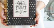 KEEPSAKE KITCHEN DIARY / Inspiration and ideas for filling out our best-selling family cookbook and memory keeper! /// cookbook ideas, cookbook template, recipe book, recipe book ideas, recipe binder, kitchen cookbook, family recipe book, dinner ideas, custom recipe book, chalkboard prints, kitchen essentials, modern kitchen, vintage kitchen, kitchen style