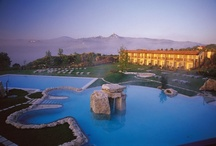 Adler Thermae Resort, Tuscany / The Adler Thermae retreat combines nature with modern architecture to create an elegant yet relaxing holiday environment. Set in the beautiful Tuscan landscape on a former travertine quarry, the natural scenery of the surrounding valley is not to be missed and provides the perfect oasis for a luxury wellness getaway. http://www.healthandfitnesstravel.com/destinations/italy