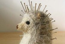 Pin Cushion / Cute cushions used to store stick pins / by Cynthia Wiebe Wiebelhaus