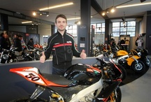Aprilia Store - Pogliani Dealer / Sylvain Guintoli as guest of honour at a new Aprilia store opening. http://www.aprilia.com/ / by Aprilia