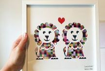 Bertie & Jack | Personalised Designs For Children / Beautiful and unique cut-out wall art - perfect for children's rooms.   When you order from www.bertieandjack.co.uk, each piece can be personalised with your choice of background pattern and a special message written on the mount. Super special, huh?