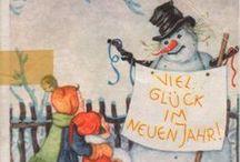 Neujahr / Novogodišnje čestitke na nemačkom jeziku