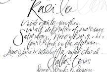 Calligraphy / Inspiring penmanship...