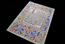 Kaligrafia / Calligraphy - by Wojciech Baran - Adalbert / Kaligrafia - Iluminajca -- Calligraphy - Illumination -- Artist name: Wojciech Baran - Adalbert -- barankowie@onet.eu
