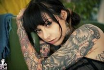 Tattoos - say it in ink. / Artistic tats and even some temporary tatoos.