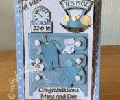 Handmade Baby Birth Cards / A selection of cards I handmade for the arrival of new babies