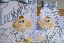 My Hand Made Baby Shower Cards / A selection of cards I have made for baby showers.