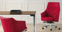 Dama / Dama is a large family of executive chairs realized in various sizes of seatbacks: the high and medium-sized seatbacks are intended for managers while the medium to low seatbacks are intended for the waiting lounge and hotels. In the lounge version accessories such as a USB charger are also available. The executive version features a synchronous movement and a polyurethane foam insert in the structural metal tube.