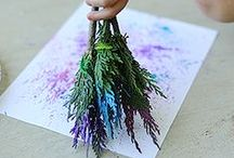 Nature Art Projects for Kids / Nature art projects for kids. Inspiration to use natural materials for arts and crafts for kids.