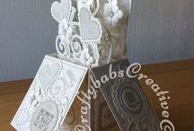 Handmade Wedding Keepsakes/Extra Special Cards / A selection of special Wedding day keepsakes and Extra Special Cards (A4, 8x8, or more intricate/involved card designs) I have made for relatives and friends.