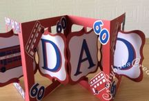 My Hand Made Men's Ages Cards / A selection of cards I have made for those oh so difficult men for milestone birthdays