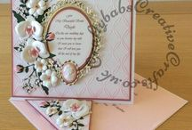 """Hand Made Wedding/Engagement Cards / A selection of wedding cards both XL (A4 or 8"""" square) and standard sized A5. Made for friends and family weddings and engagements."""