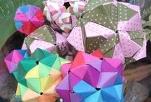 Modular Origami / My works: modular origami and kusudamas.