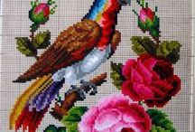 Berlin WoolWork Pattern / Схемы для вышивки крестиком.