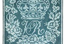 Старинные схемы для филейного вязания / Схемы для филейного вязания.