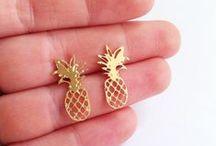 pineapple / pineapple necklace, pineapple jewelry, pineapple decor