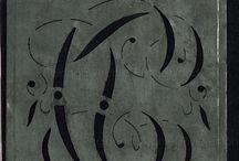 Шаблоны для набивки краской / Монограммы, рисунок