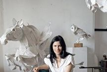Paper animal sculptures / Ideas for an art project to create paper sculptures of wildlife