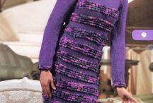 Платья с длинными рукавами вязаные
