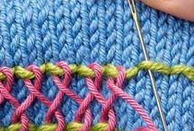 Декоративные швы на вязанном полотне