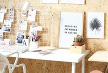 Home Office / Inspirational home office ideas! How to create a practical and modern place for your home office. Best color combinations, hacks, furniture, concepts all about home office. +++ home office design, home office ideas, home office decor, home offices, home: offices, studios & workspaces, gallery wall ideas, modern gallery wall, photo decor wall, photo decorations, photo decor ideas, printable wall art, prints set wall art, poster set wall art, painting printables, original paintings