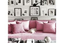 Pink in the Interior / Most beautiful pink color combinations for your interior! Furniture, wall art, home decor - all in lovely shades of pink, from light rose to magenta! +++ living room ideas, apartment decorating, gallery wall living room, gallery wall ideas, modern gallery wall, photo decor wall, photo decorations, photo decor ideas, printable wall art, prints set wall art, poster set wall art, painting printables, original paintings