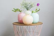 Pastel Interior / Inspirational interiors in pastel color palette. Pastel colors are so welcoming and gentle, and are easy to combine! Perfect for colorful nursery room or calm bedroom and genuine for kitchen, living room or home office. Which pastel shade do you like most?  living room ideas, apartment decorating, gallery wall living room, gallery wall ideas, modern gallery wall, photo decor wall, photo decorations, photo decor ideas, printable wall art, prints set wall art, poster set wall art