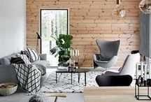 Wood in the Interior / Wood creates warming atmosphere in your interior! Modern living goes hand in hand with this sustainable material! Must-have for rustic interiors, chic in Scandinavian or Bohemian style interiors. wooden textures and patterns, wooden furniture, wooden wall decor, wooden floor and more!