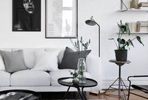 Scandinavian interior / Do you love black and white and all shades of gray? Must have designer's furniture pieces? Do you like minimalism and geometry? Then you must live in Scandinavian interior!  +++ minimal interior, minimal living room, minimal bedroom, black and white interior, geometric decor, design furniture, b&w living room, b&w kitchen, b&w furniture, b&w bedroom, modern interior, interior design